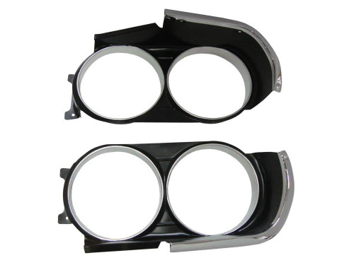230-71RT Mopar 1971 Dodge Challenger R/T Headlight Bezels
