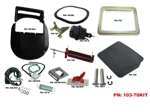 103-70KIT Mopar 1970 Roadrunner GTX 1971-72 Charger Air Grabber Kit