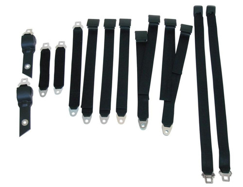 1850-70BUK Mopar 1970 B-body Bucket Seat Belt Set