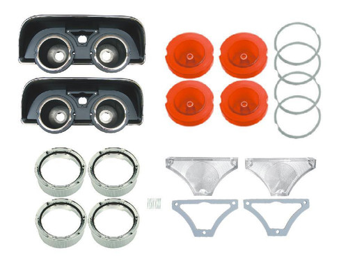 163-HBLKIT Mopar 1968 Dodge Charger Taillight Assembly Kit