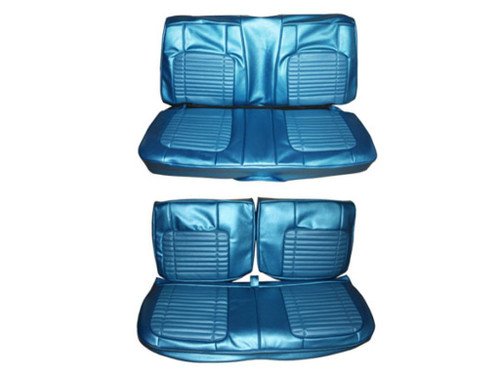 7712-BEN 1970 Charger 500 Front Bench Rear Bench Seat Cover