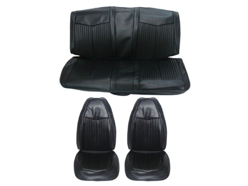 6612-BUK 1970 Duster Front Bucket Rear Bench Seat Cover