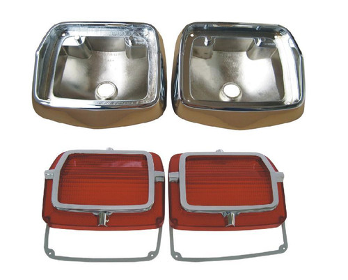 165-65BLKIT Mopar 1965 Plymouth Belvedere Taillight Kit