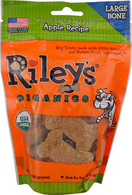 5 PACK of Rileys Organics Dog Biscuits Large  Apple - 2 oz
