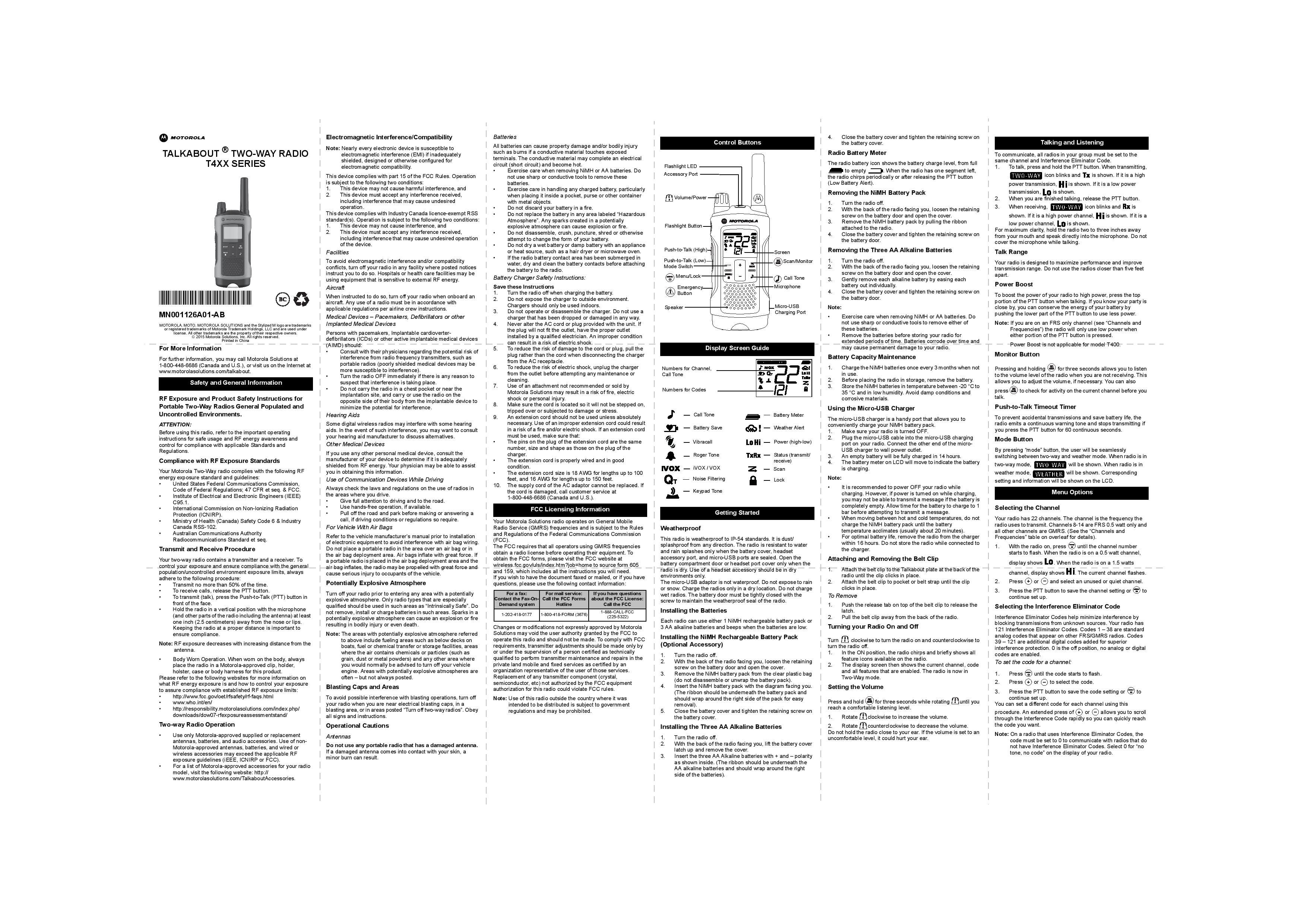motorola t460 user guide twowayradiocenter com rh twowayradiocenter com Motorola Talkabout Blue Early Motorola Talkabout