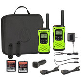 Motorola T605 Waterproof Walkie Talkie with Car Charger and Carry Case