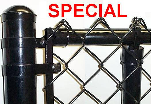 Black Chain link Fence Complete