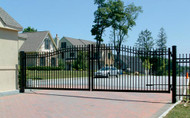 Delgard Aluminum Commercial Estate Gate, Madrid Estate Double Arched
