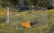 Dog Kennel Box Kit - Chain link Galvanized