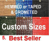 Custom Height & Length, Hemmed Edges with Gromets, EcoMax95 Panels, Max Privacy & Durable. . Price per ft. Minimum order $150 before shipping. SEE product Info below for ordering multiple custom panels
