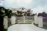 Elite Aluminum Matching Double Drive Gates - Residential