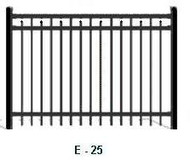 Elite Aluminum Fence EFF-25 Flat Top with Spear