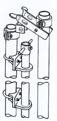 """Double Gate Latch with Center Drop Pin, 1-5/8"""" Frame size"""