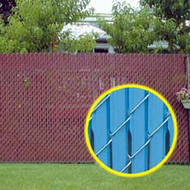 Fence Slats Feather Lock Chain link