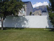 "Fence Pre-Installed Slats Galvanized 3 ½"" x 5"" Mesh Price /ft"