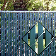 "Fence Privacy Slat Option Lock for 2"" & 2-1/4"" Chain link mesh"