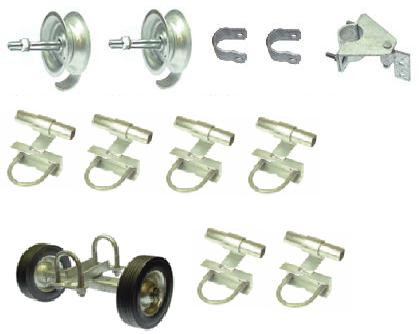 Fence Rolling Gate Hardware Kit Commercial Chain Link
