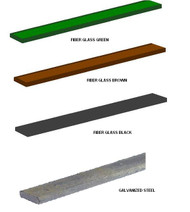 Fence Tension Bar - Chain link Galvanized , Color Fiber Glass