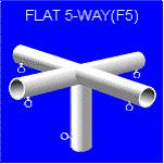 Flat 5-Way F5-90 deg , Canopy & Shelter Parts