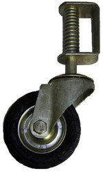 """Gate Helper Wheel for Chain link Fence Gates 6"""" Swivel Wheel with spring"""