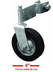 "Swivel Gate Helper Wheel 6""- Chain link Fence Gates for 1-3/8"" Frame"