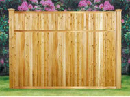 Good Neighbor MILFORD Cedar Fence 6ft H x 8ft Wide. Pre-Built , finished on both sides