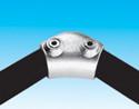 Handrail fitting - 165 deg to 105 deg Variable Elbow - HR 7