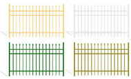 Aluminum Fence Panels - Wrought Iron - PG Spear Top Color