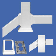 "RAIL BRACKET KIT 2"" X 3-1/2"" Commercial with Metal - Vinyl Railing"