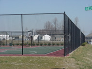 Tennis Court Fence Chain Link BLACK & GREEN TC40 per ft