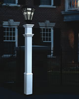 Vinyl Lamp Post Sturbridge