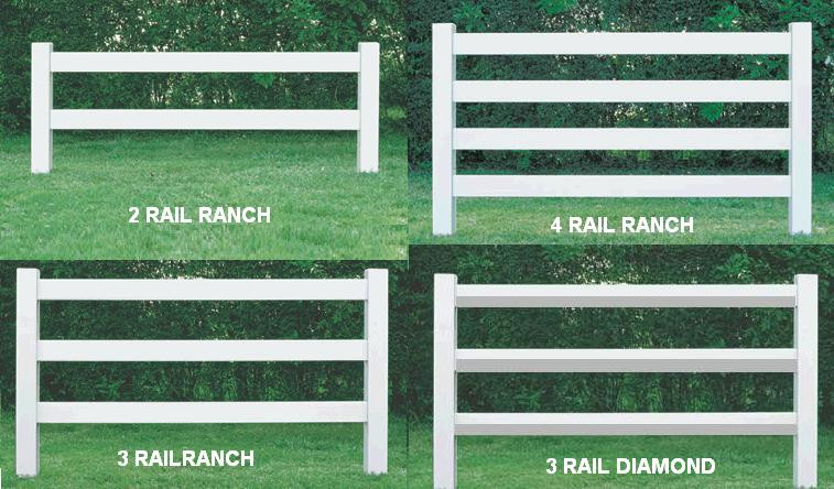 Vinyl Ranch Railing Post Amp Rail Horse Fence Rail Fence