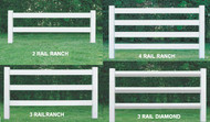 Vinyl Ranch Railing, Post & Rail, Horse Fence Rail