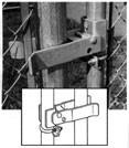 Walk Gate Latch Strong Arm - Commercial Galvanized & Black