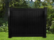 BLACK VINYL PRIVACY FENCE 6FT X 6FT