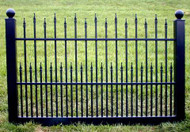 Black Vinyl Fence 4 ft x 6 ft BSL-40