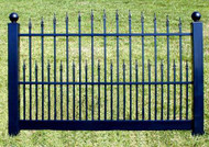 Black Vinyl Fence 4 ft x 6ft  BSL-41