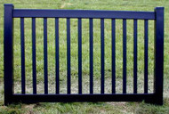Black Vinyl Fence 4 ft  x 6ft BSL-60