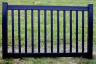 Black Vinyl Fence 4 ft  x 6ft BSL-60