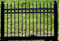 Black Vinyl Fence 4 ft x 6ft BSL70