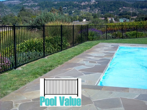 Wrought Iron Steel Fences 2 Rail 4 Ft X 8ft Flat Top