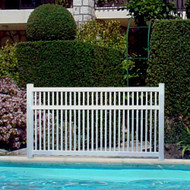 Pool Vinyl Fence - West Point 5 ft H x 8ft W
