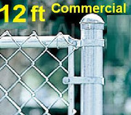 "12 ft Galvanized Commercial System Complete Package. The price per ft. Includes: All Line Posts (2"" OD x 15 ft) with hardware every 10 feet, All Top Rail (1-5/8""), All Mesh (2"" x 9 gauge)"