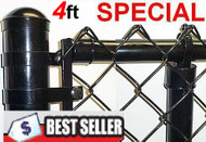 "4 Ft Vinyl Coated System Complete includes 2""x 9 Ga. Mesh, 1-3/8"" Top Rail, 1-5/8"" Line Posts and Hardware, Price shown is per linear foot. Enter total feet of your fence in Qnty box in this line"