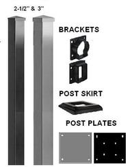 Aluminum Deck Railing ADR Post & Bracket Sets