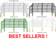 Baseball Backstops, Chain Link Fence panel system, with Canopy 10 x 20 x10 ft