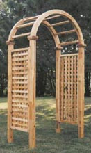 Cedar Arbor Arch top - Square Lattice Panels, Northern White Cedar