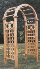 "Cedar Arbor Arch top - 4"" Square Lattice Ring Top Panels, Northern White Cedar"