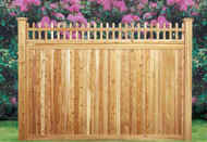 "SAYBROOK Cedar Fence Premium Picket Open Top, 5"" T & G Privacy Panel. Good Neighbor, both sides finished as shown in picture"