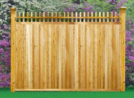 "GREENWICH Cedar Fence Picket Top, Privacy, 5"" T&G Panels 6 ft x 8 ft"